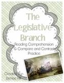The Legislative Branch: Non-Fiction Reading & Compare and Contrast Practice