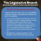 The Legislative Branch TEST - Editable (Civics/U.S. Government)