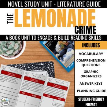 The Lemonade Crime Foldable Novel Study Unit