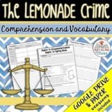 The Lemonade Crime: Comprehension and Vocabulary by chapter Distance Learning