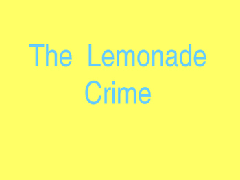 The Lemonade Crime Vocabulary PowerPoint and Test