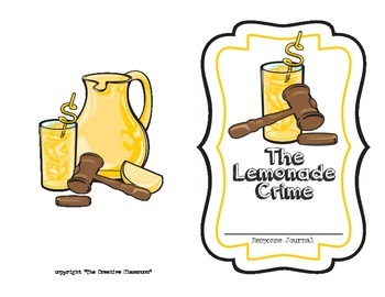 The Lemonade Crime Writer Response Pack - Writing, Lang. Arts