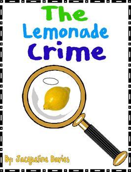 The Lemonade Crime by Davies Reading Response Literature Circle Packet