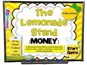 The Lemonade Stand Money Smart Board Game (CCSS.2.MD.8)