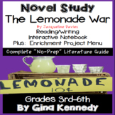 The Lemonade War Novel Study & Enrichment Projects Menu