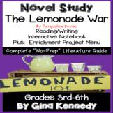 The Lemonade War Novel Study & Projects Menu; Plus Digital Option