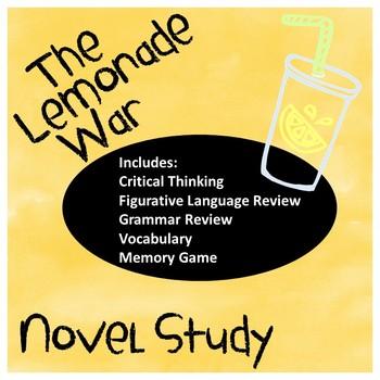 The Lemonade War A Complete Novel Study (New!)