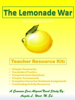 The Lemonade War: A Novel Study