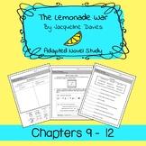 The Lemonade War Adapted Novel Study Chapters 9 - 12