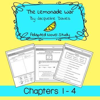 The Lemonade War Adapted Novel Study: Ch 1 - 4