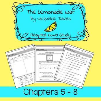 The Lemonade War Unit Bundle: Chapters 5 - 8