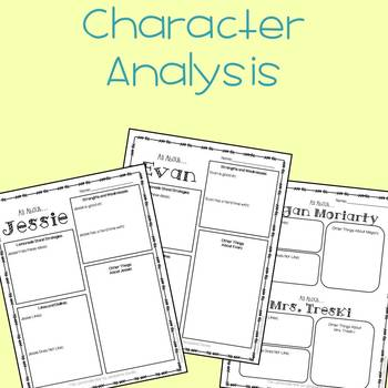 The Lemonade War Adapted Novel Study: Character Lists & Bookwide Activities
