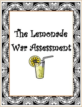 The Lemonade War Assessment