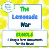 The Lemonade War - BUNDLE -  Google Form Quiz / Assessment
