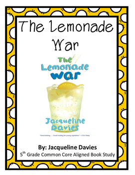 The Lemonade War Book Study - Common Core Aligned