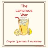 The Lemonade War Chapter Questions & Vocabulary