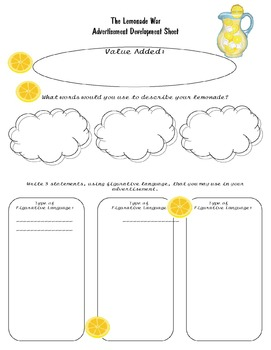 The Lemonade War Comprehension Assessment and 3 Extension Activities