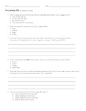 The Lemonade War Comprehension Assessment and 3 Extension