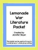The Lemonade War Comprehension Packet