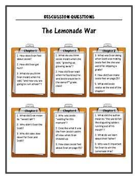 The Lemonade War Discussion Questions