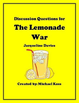 The Lemonade War Discussion Questions