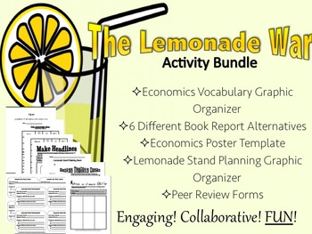 The Lemonade War- Engaging & Collaborative Reports, Projects, & Activities!