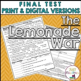 The Lemonade War Final Test