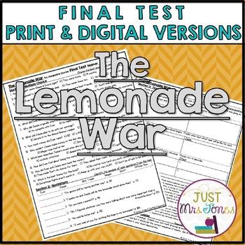 The Lemonade War Final Test