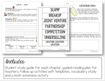 The Lemonade War - Guided Reading and Book Club Made Easy!