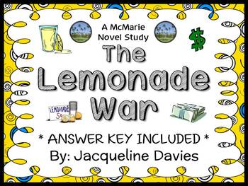 The Lemonade War (Jacqueline Davies) Novel Study / Comprehension  (35 pages)