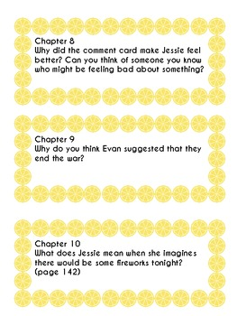 The Lemonade War Journal Prompts