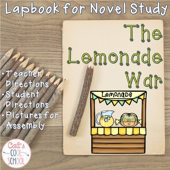 The Lemonade War Lapbook for Novel Study