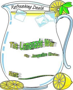 The Lemonade War -Literature Circle Reading Response Packet