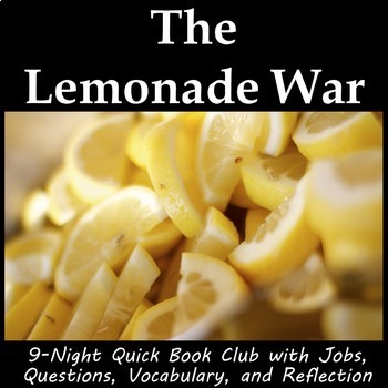 The Lemonade War - Book Club