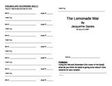 The Lemonade War Literature Unit
