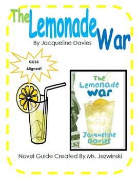 The Lemonade War Novel Guide & Math Activities