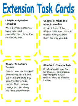 The Lemonade War Novel Guide Amp Math Activities Tpt