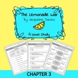 The Lemonade War Novel Study: Chapter 3