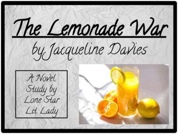 The Lemonade War: Novel Study Response Book