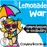 The Lemonade War Novel Study Unit