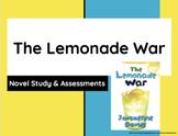 Novel Study and Chapter Assessments Bundle The Lemonade War