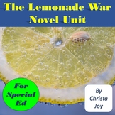 The Lemonade War Novel Study for Special Education