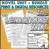 The Lemonade War Novel Unit