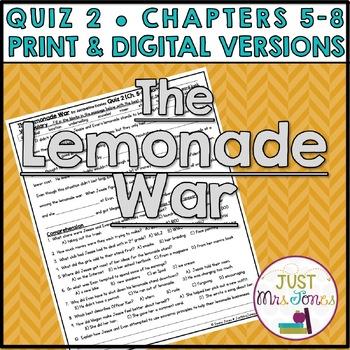 The Lemonade War Quiz 2 (Ch. 5-8)