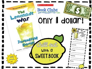 the lemonade war reading bookmark and book tags by hello fourth tpt