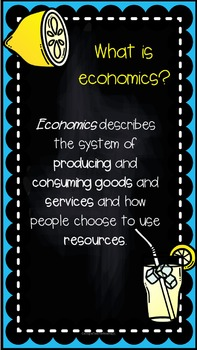 The Lemonade War Reading and Economics Pack
