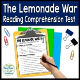 The Lemonade War Test: Final Book Quiz with Answer Key