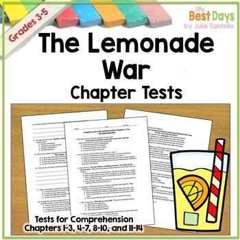 The Lemonade War Tests