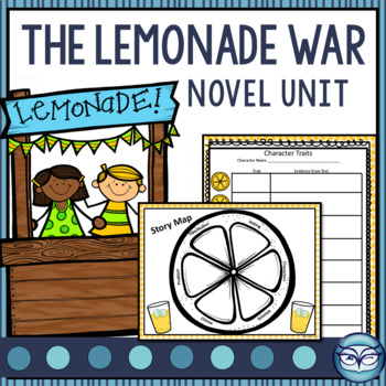 The Lemonade War - Unit Plan and Activity Guide - over 100 pages!!!