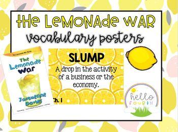 The Lemonade War Vocabulary Cards